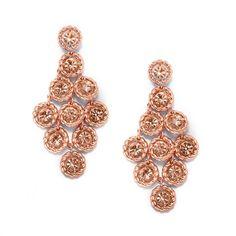 Unique Earrings Rose Gold Rope Design