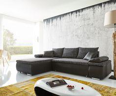 Ecksofa Cariba 275x180 Schwarz Grau Ottomane variabel Schlaffunktion Möbel Sofas…
