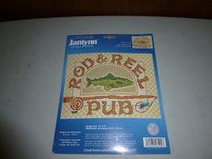Janlynn Rod and Reel Pub Counted Cross Stitch Kit by BathoryZ, $34.00