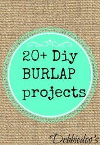 20+ Diy burlap projects - Debbiedoo's