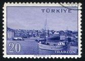 TURKEY - CIRCA 1959: stamp printed by Turkey, shows Turkish city, Trabzon, circa 1959