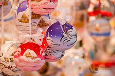 Colored Christmas globes painted with snow and homes Stock photo available for downloads on: istockphoto, shutterstock, dreamstime, fotolia, depositphotos
