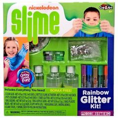 nickelodeon slime rainbow glitter kit cra z toywiz