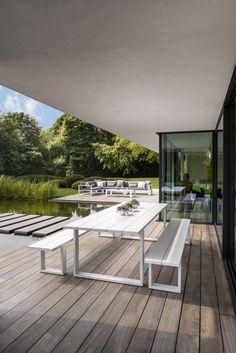 Gerecycleerde teak tafels Bristol Garden tuinmeubelen Overstock