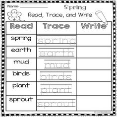 Poetry Poem of the week for Spring! Great for shared reading and follow up activity for a literacy center, homework, morning work and more.