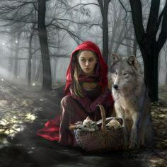 little red riding hood ~ wolf pups