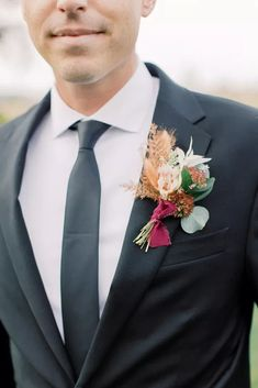 Groom with Colorful Wedding Boutonniere Wedding Boutonniere, Boutonnieres, Festival Friends, Black Color Palette, Boho Beach Wedding, Advice For Bride, Beautiful Farm, Welcome To The Family, Cape May