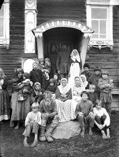 Поволжье. Группа старообрядцев. 1897 г. Деревня Кузнецово, Нижегородская губерния