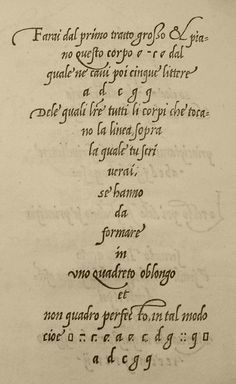 Lodowico Degli Arrighi, 1522. The spacing leaves space for the ascenders. a page from Le Opeina.