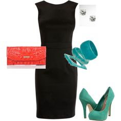 Sleek dress, fabulous shoes!