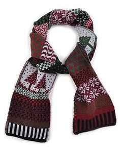 Solmate Scarf, USA Made with Soft Recycled Cotton Yarns, Poinsettia. HIGH QUALITY - These vibrant scarves are MADE IN THE USA with attention to detail and design. GET NOTICED - Beautiful patchwork patterns catch the eye of everyone you encounter!. STAY WARM - These are perfect for wrapping around cold necks on chilly afternoons!. ECO-FRIENDLY - Made from 100% recycled cotton/poly blend, our products help protect the environment!. LAUGH, LOVE, AND CELEBRATE - An essential addition to the…