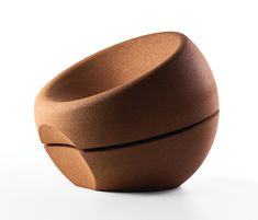 Miguel Arruda Spherical Cork Armchair - The Habitable Sculpture is at the origin of SPHERICAL, which distinguishes itself through its resilience, ergonomics and warm softness, exclusive features of cork. Furniture Upholstery, Furniture Design, Office Furniture, Lounge Chair Design, Lounge Chairs, Adjustable Table, Ikea Chair, Cool Chairs, Design Awards