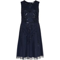 Studio 8 Dark-Blue Plus Size Beaded tulle dress (1,355 CNY) ❤ liked on Polyvore featuring dresses, plus size, dark blue dress, plus size special occasion dresses, dark blue cocktail dress, plus size evening dresses and plus size sequin dress