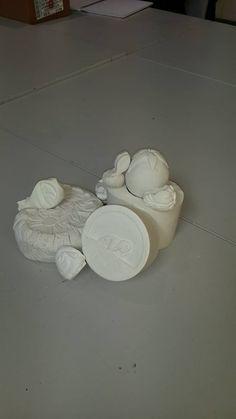 Hieronymus Bosch style plaster sculptures