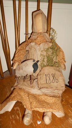 Olde Thyme Prairie Doll by DownOnCrippleCreek on Etsy, $28.00