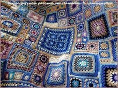 Наталья Печатникова - Natalia Pechatnikova crochet blanket inspiration