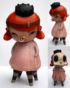 Hazel with Skull Mask - Sculpture