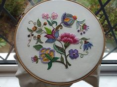Beautifully done. This makes me want to get out the embroidery hoops again. This is my work.....