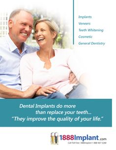 Check out our website at 1888implant.com for all your information on dental implants!