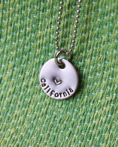 State/Country Necklace - Missionary Necklace - Sister - Elder - Mom - Stainless - Pearl Charm - Girlfriend - Gift for a Missionary Mom