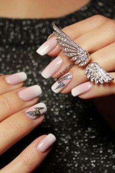 Babyboomer French manicure