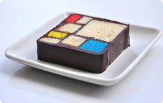Artistic Cake (Piet Mondrian)