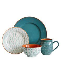 Square Dinnerware Set, Stoneware Dinnerware Sets, Tableware, Dinnerware Ideas, Blue Dinnerware Sets, Kitchenware, Serveware, Farmhouse Dinnerware, Casual Dinnerware