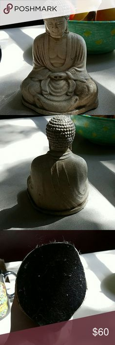Stone painted Buddha in white NWOT White Buddha with closed eyes meditating cross-legged with felt bottom Teavana Other