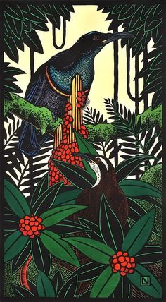 Magnificent Rifle Birds 1999-2007 Hand Coloured, Leslie V. Van Der Sluys (1939-2010) Australia