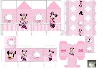 Minnie with Pink Stripes: Free Printable Boxes. Girl Birthday Themes, Kids Party Themes, Pink Birthday, Party In A Box, Party Kit, Printable Box, Free Printables, Paper Doll House, Minnie Mouse Party