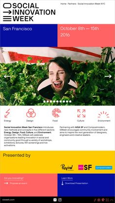 Social Innovation Week SF — Aurelio Sánchez — Art Direction — Graphic Design