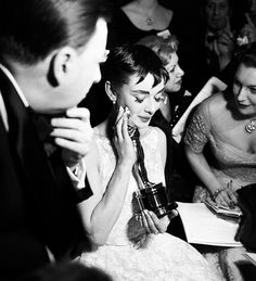 Audrey and her Oscar