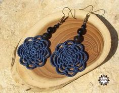 Tutorial: Flower macrame earring – Macramotiv Macrame Earrings, Crochet Necklace, Drop Earrings, Flowers, Jewelry, Necklaces, Jewlery, Jewerly, Schmuck