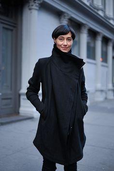 Dina Chang wearing  IN AISCE MERCURY, RICK OWENS