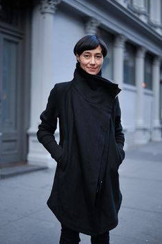 Dina Chang wearing  IN AISCE MERCURY, RICK OWENS