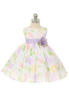 girls' flower patterned dress