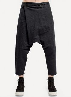 TR010.CHA Foldover Cropped Pant