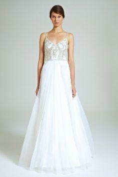 Collette Dinnigan Fern Diamonds Shoestring Gown