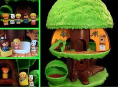 fisher price Kenner Tree Tots Family Treehouse...i loved this thing...it was really cool there was a handle at the top of it and the whole thing opened up like it shows in the pic...