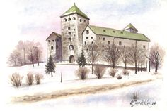 Turun linna Finland Travel, Fortification, Castles, Mansions, Places, Outdoor, Painting, Mansion Houses, Outdoors