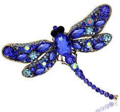 MloveAcc Dragonfly Brooches Corsages Jewelry Shining Crystal Vintage Brooch Crystal Big Broches Scarf Clothes Hijab Pins Up Gemstone Brooch, Crystal Brooch, Crystal Jewelry, Gemstone Jewelry, Crystal Rhinestone, Vintage Rhinestone, Brooch Corsage, Brooch Pin, Broschen Bouquets