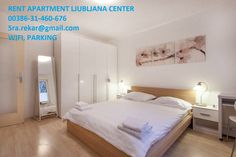 Celý dům/byt v Ljubljana, Slovinsko. Ljubljana Center Apartment close to the Old Town with fully equipped kitchen and views of the park. Free: WiFi, flat screen satelite TV, parking an. Wi Fi, Rent Apartment, Flat Screen, Park, Slovenia, Room, Furniture, Home Decor, Animals