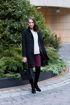 Winter's Uniform: Over the Knee Boots — The Fox & She Winter Office Wear, Sweater Layering, Fashion Images, Zip Sweater, Winter Sweaters, Fashion Lookbook, Over The Knee Boots, Business Casual, My Style