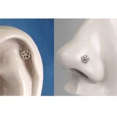 925 Sterling silver mini filigree flower ear studs by Cartilage Ring, Ear Piercings, Wedding Gifts For Bridesmaids, Silver Ear Cuff, Ear Studs, Handmade Sterling Silver, Body Jewelry, Fashion Earrings, Valentine Gifts