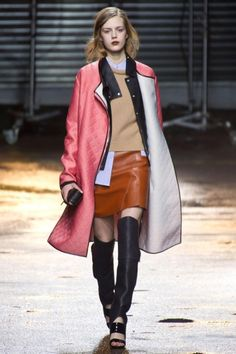We're eager to wear colored leather and over-the-knee boots come fall, thanks to this biker-chic look at 3.1 Phillip Lim