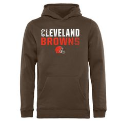6fa1e3152 Cleveland Browns NFL Pro Line by Fanatics Branded Youth Iconic Collection  Fade Out Pullover Hoodie - Brown