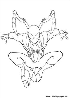 Ultimate Spiderman Iron Spider coloring pages