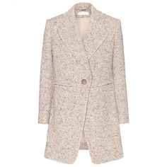 Chloé Cotton-Blend Coat (3 510 AUD) ❤ liked on Polyvore featuring outerwear, coats, jackets, coats & jackets, casacos, beige, chloe coat, pink coat and beige coat