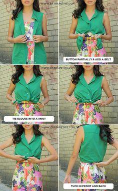 shirt over a dress.
