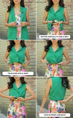 how to wear a blouse over a dress.